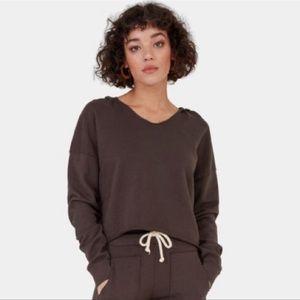 Mate Davey Hooded Crop Sweatshirt Charcoal Medium